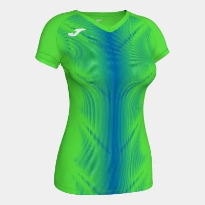 Tricou Joma Olimpia Fluor verde-royal cu maneca scurta pentru Femei