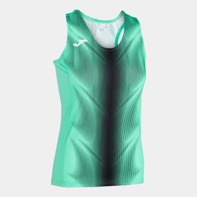 Tricou Joma Olimpia verde-negru fara maneci pentru Femei