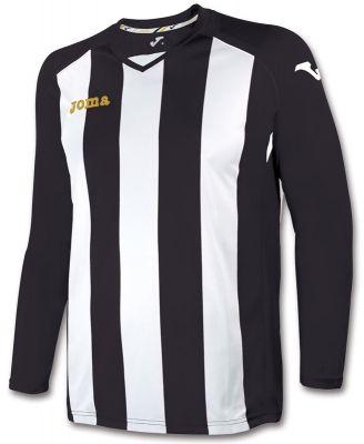 Tricou Joma Pisa 12 negru-alb cu maneca lunga