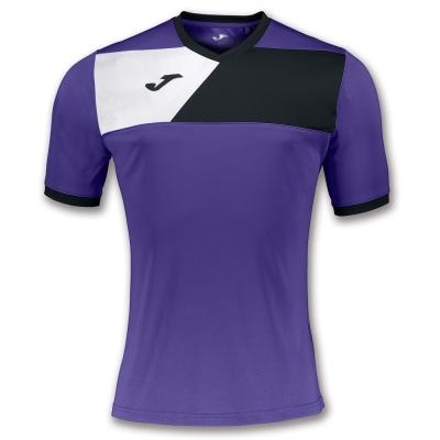 Tricou Joma sport Crew II II Purple-negru cu maneca scurta mov