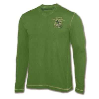 Tricou Joma Trekking verde cu maneca lunga