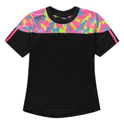 Tricou Karakal Camo pentru copii bleumarin roz camuflaj
