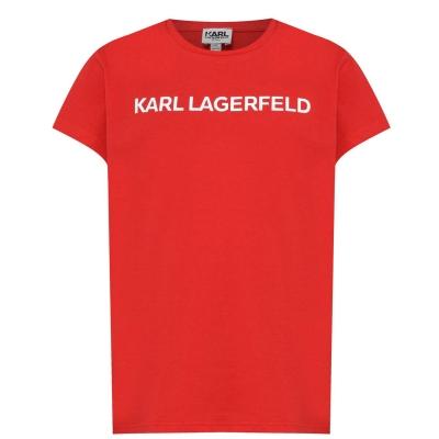 Tricou KARL LAGERFELD Basic Print pentru fetite rosu
