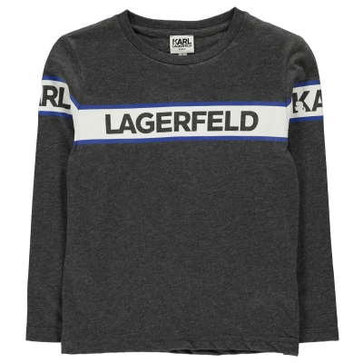 Bluza maneca lunga KARL LAGERFELD pentru baietei gri a48