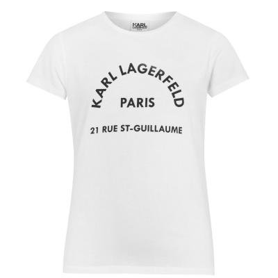 Tricouri KARL LAGERFELD pentru baietei alb 10b