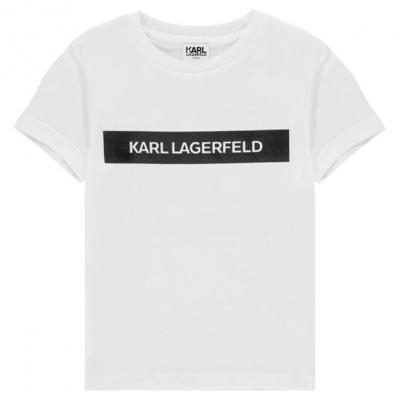 Tricou KARL LAGERFELD Multi Theme pentru baietei alb 10b