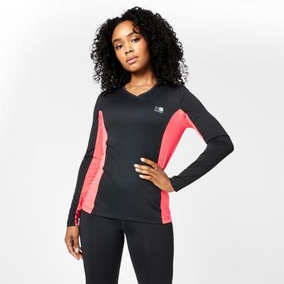 Tricou Karrimor cu Maneca Lunga alergare negru roz