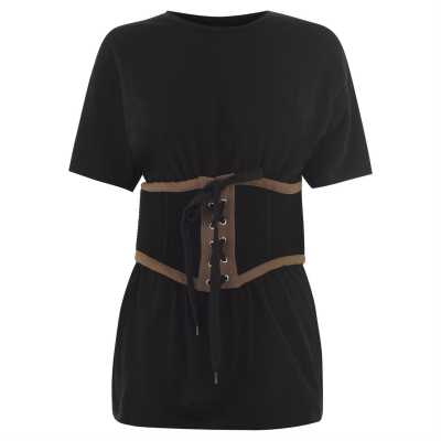 Tricou Kendall and Kylie Corset negru military verde
