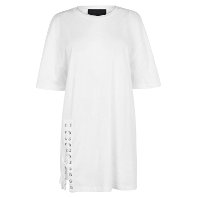 Tricou Kendall and Kylie Lace bright alb