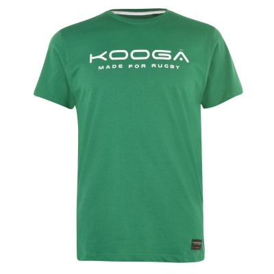 Tricou cu imprimeu KooGa bumbac Senior verde alb