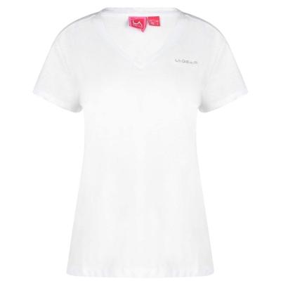 Tricou LA Gear cu decolteu in V pentru Femei alb