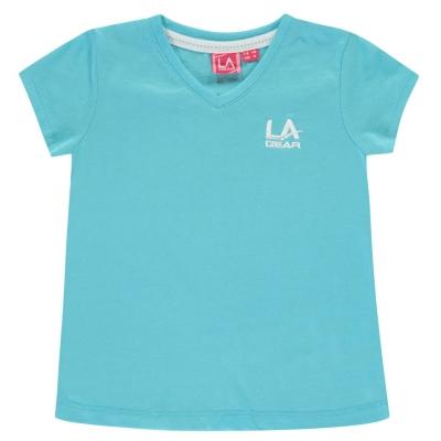 Tricou LA Gear cu decolteu in V pentru fetite bright albastru