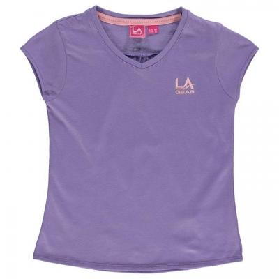 Tricou LA Gear cu decolteu in V pentru fetite lila