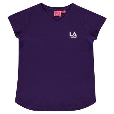 Tricou LA Gear cu decolteu in V pentru fetite mov
