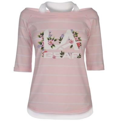 Tricou LA Gear Mock Layer pentru Femei roz floral