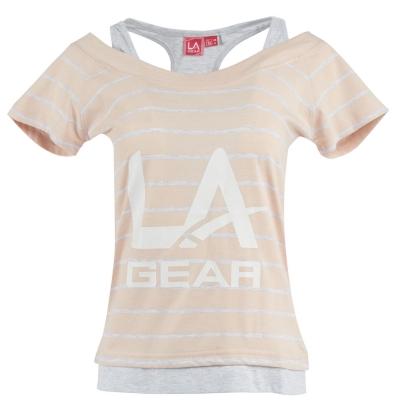 Tricou LA Gear Multi Layer pentru Femei roz