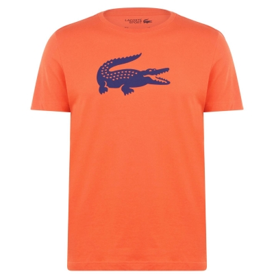 Tricou Lacoste Croc II portocaliu