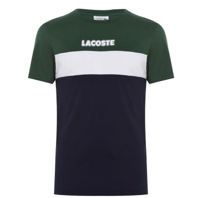 Tricou Lacoste Colour Block bleumarin verde 6be