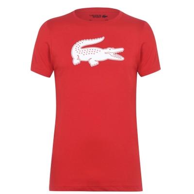 Tricou Lacoste Croc II rosu alb