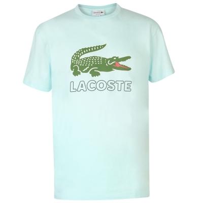 Tricou Lacoste Logo albastru aqua
