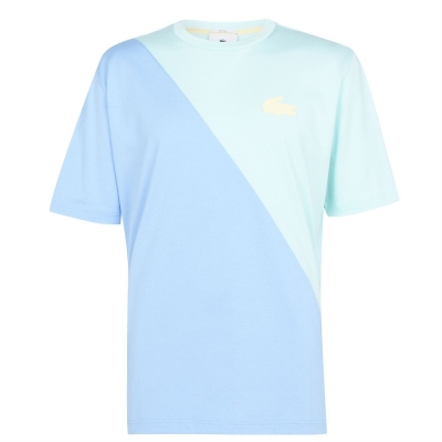 Tricou Lacoste Pastel natti albastru jm5