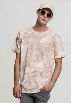 Tricou larg Camo roz-camuflaj Urban Classics