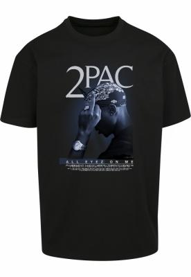 Tricou larg Tupac All F*ck the World 2.0 negru Mister Tee
