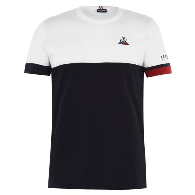 Tricou Le Coq Sportif Sportif Tri bleumarin alb rosu