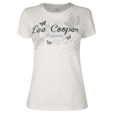 Tricou Lee Cooper clasic pentru Femei crem