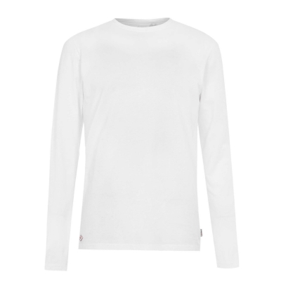 Tricou Lee Cooper Essential cu Maneca Lunga Crew pentru Barbati alb