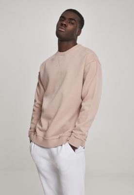 Tricou lejer cu maneca lunga roz-pudrat Urban Classics