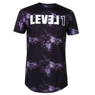 Tricou Level 1 Pennin pentru Barbati gri inchis
