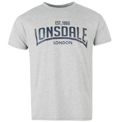 Tricou Lonsdale pentru Barbati gri marl