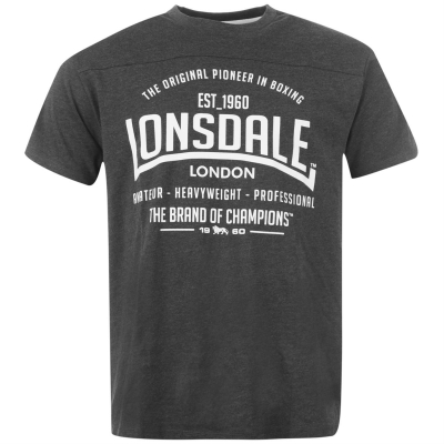 Tricou Lonsdale pentru Barbati gri carbune m