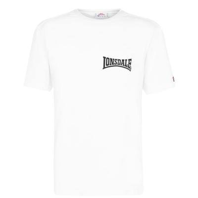 Tricou Lonsdale Japan pentru Barbati alb negru lion
