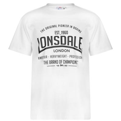 Tricou Lonsdale pentru Barbati alb