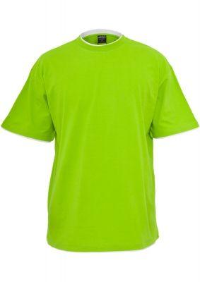 Tricouri largi hip hop verde deschis-alb