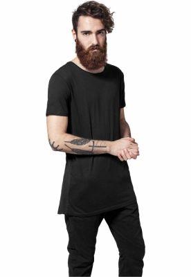 Tricouri mai lungi in spate shaped negru Urban Classics