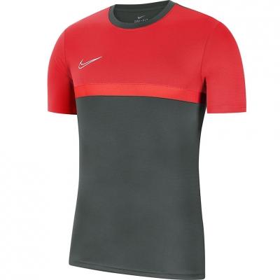 Tricou Męska Nike Dry Academy PRO TOP SS gri-rosu BV6926 079