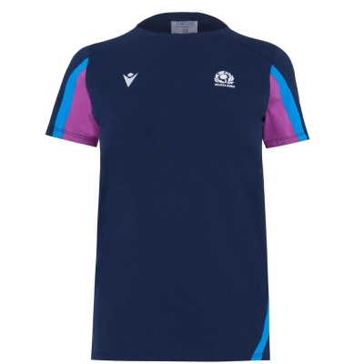 Tricou Macron Scotland Rugby bumbac pentru Femei bleumarin mov