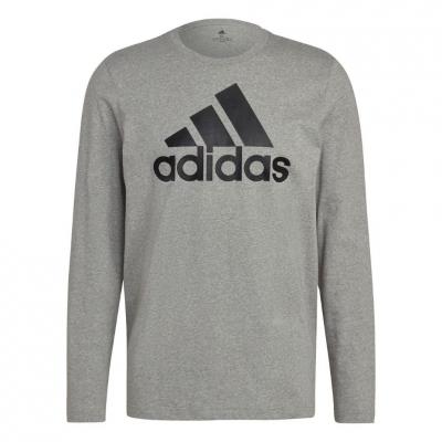 Tricou maneca lunga Adidas Essentials gri H14623 pentru Barbati