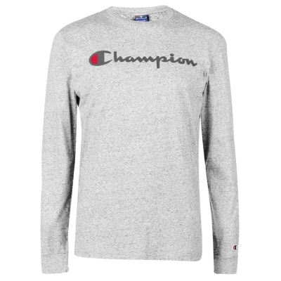 Tricou maneca lunga Champion gri
