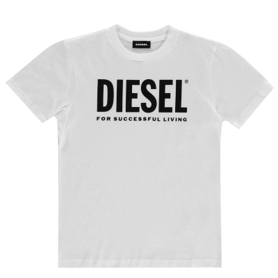 Tricou cu imprimeu Diesel Core alb