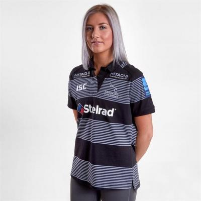 Tricouri rugby ISC Newcastle Falcons 18/19 Acasa pentru Femei negru alb