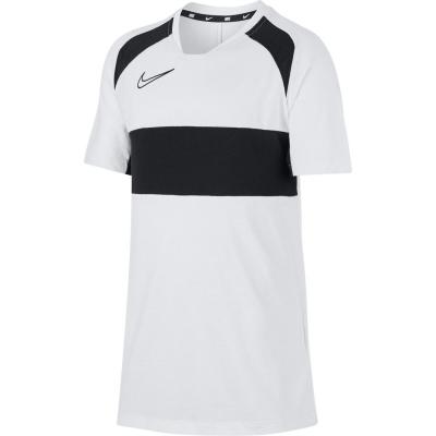 Tricou maneca scurta Nike Academy pentru baietei alb negru