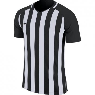 Tricou maneca scurta Nike cu dungi Division III JSY negru And alb 894081 010 pentru Barbati