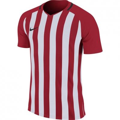 Tricou maneca scurta Nike cu dungi Division III JSY rosu-alb 894081 658 pentru Barbati