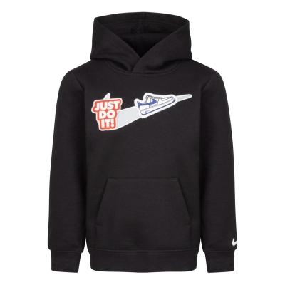 Hanorac Nike NSW Swoosh pentru Bebelusi negru alb