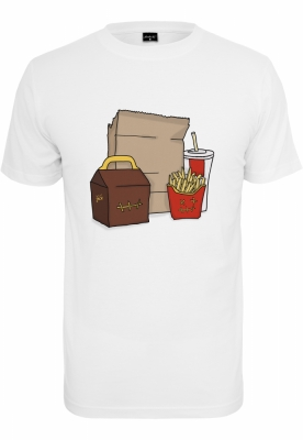 Tricou Meal alb Mister Tee