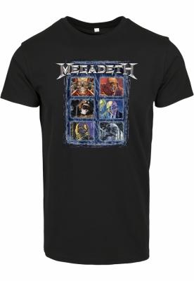 Tricou Megadeth Heads Grid negru Merchcode
